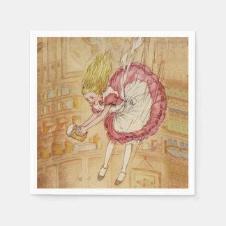 Falling Down the Rabbit Hole Paper Napkin