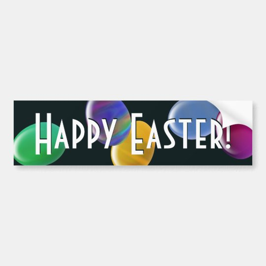Falling Eggs Happy Easter! Bumper Sticker