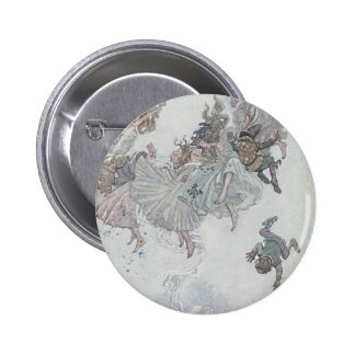 Falling Fairies, Andersen's Fairy Tales 6 Cm Round Badge