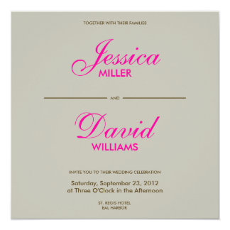 Falling Feathers in Chocolate/Taupe Modern Wedding 13 Cm X 13 Cm Square Invitation Card