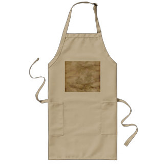 Falling Flower Pattern on Antiqued Background Long Apron