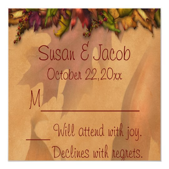 Falling Forever RSVP Enclosure Card