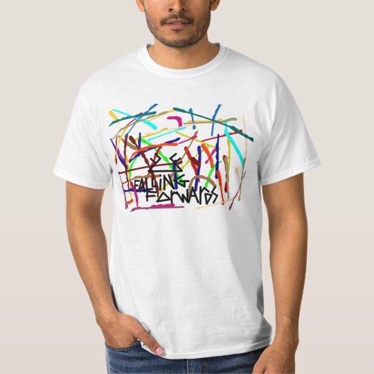 falling forwards paint splatter T-Shirt