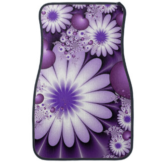 Falling in Love Abstract Flowers & Hearts Fractal Car Mat
