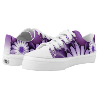 Falling in Love Abstract Flowers & Hearts Fractal Low Tops