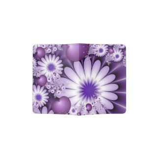 Falling in Love Abstract Flowers & Hearts Fractal Passport Holder