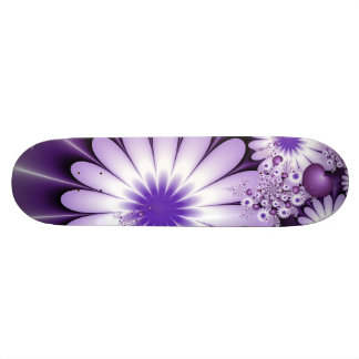 Falling in Love Abstract Flowers & Hearts Fractal Skateboard Decks