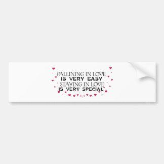 Falling in love is easy bumper stickers