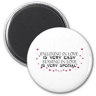 Falling in love is easy fridge magnet