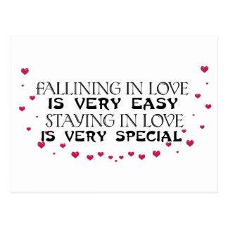 Falling in love is easy postcard