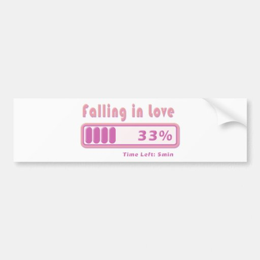 Falling in Love percentage Bumper Stickers
