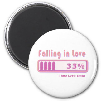 Falling in Love percentage Refrigerator Magnet