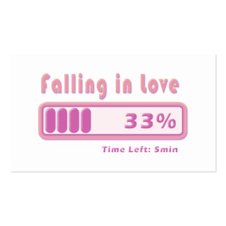 Falling in Love percentage Pack Of Standard Business Cards