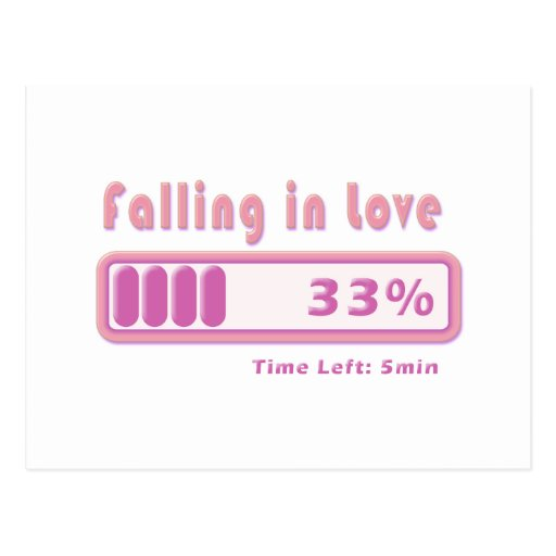 Falling in Love percentage Post Card