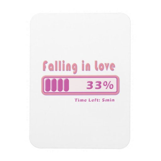Falling in Love percentage Flexible Magnets