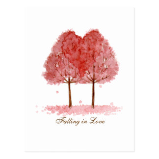 Falling in Love Postcard