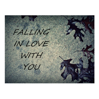 FALLING IN LOVE WITH YOU POSTCARD