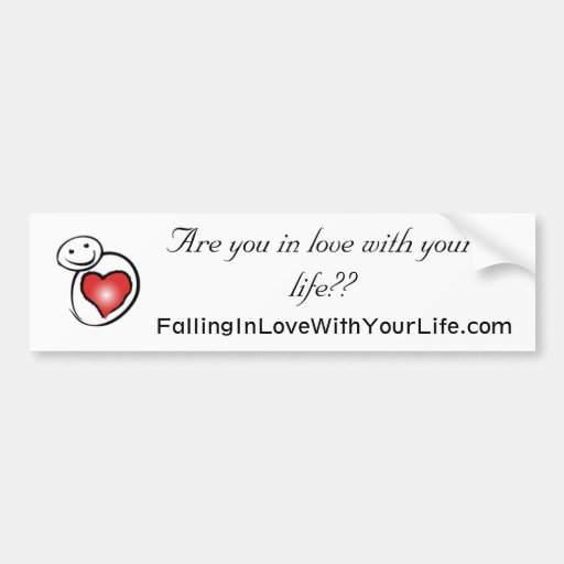 Falling in Love With Your Life Bumper Stickers