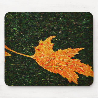Falling Leaf Oil Painting Mouse Pad