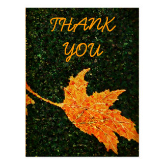 Falling Leaf Oil Painting Thank You Postcard
