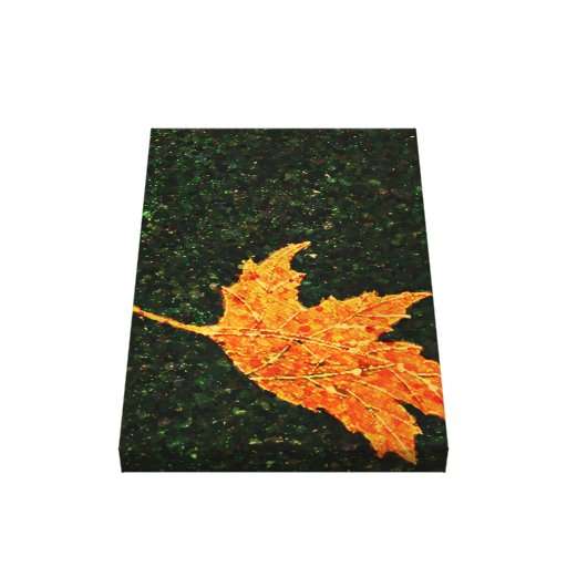 Falling Leaf Oil Painting Wrapped Canvas Print