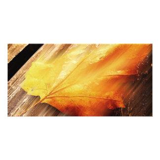 Falling Leave Photo Card Template