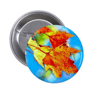 Falling Leaves 6 Cm Round Badge