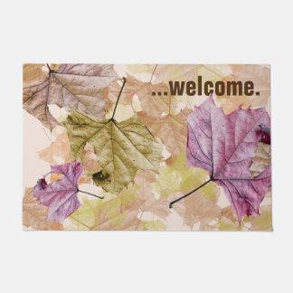 """falling leaves"" autumn camouflage DOOR MAT"