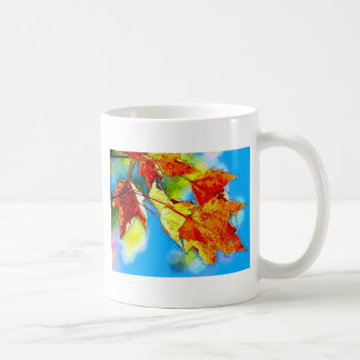 Falling Leaves Basic White Mug