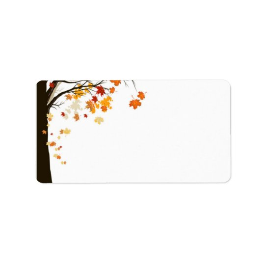 Falling Leaves Fall Autumn Wedding Address Labels