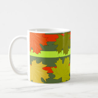 Falling leaves in autumn coffee mug