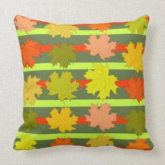 Falling leaves in autumn cushion