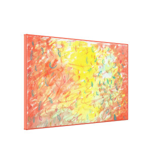 Falling Leaves in Sunlight Watercolour 2 Canvas Print