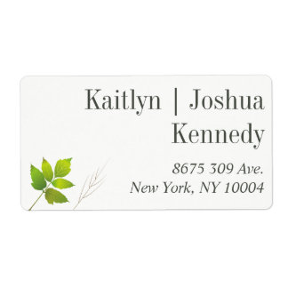 Falling Leaves Maple Oak Wedding Address Shipping Label
