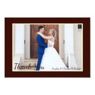 Falling Leaves Photo Thank You 9 Cm X 13 Cm Invitation Card