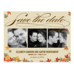 Falling Leaves Save The Date Card Postcard