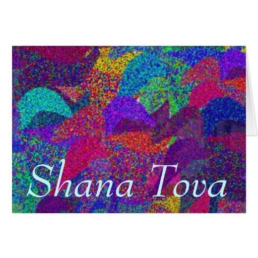 Falling Leaves Shana Tova Card