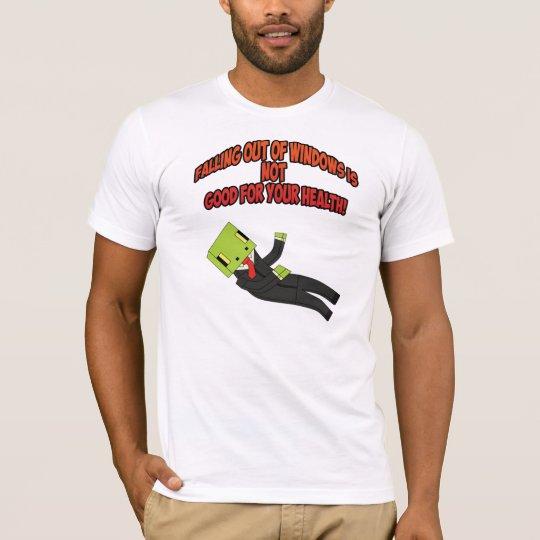 Falling out windows t-shirt GamingGeckos