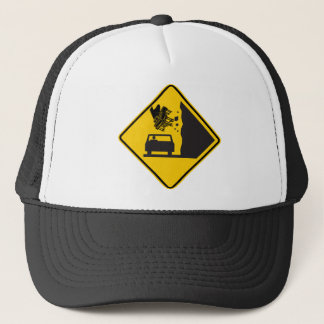 Falling Piano Zone Highway Sign Trucker Hat