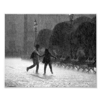 Falling Rain Photo Print