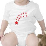 falling red stars baby bodysuit