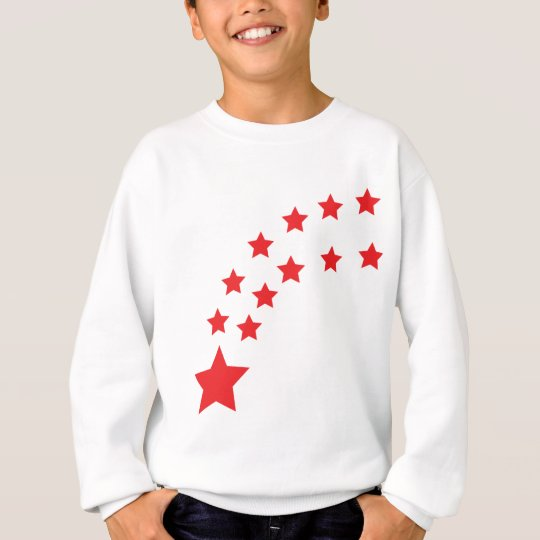 falling red stars sweatshirt