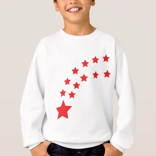 falling red stars t shirt