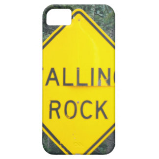 """""""Falling Rock"""" Road Sign iPhone 5 Case"""