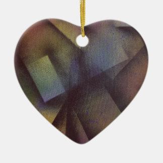 Falling sheets ceramic heart decoration