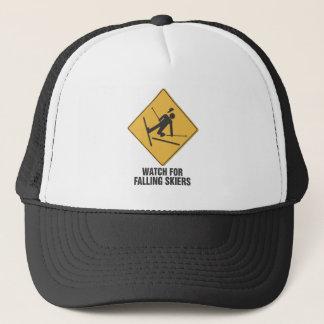 Falling Skiers Trucker Hat