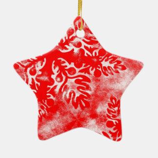 Falling Snowflake Premium Heart Christmas Ornament