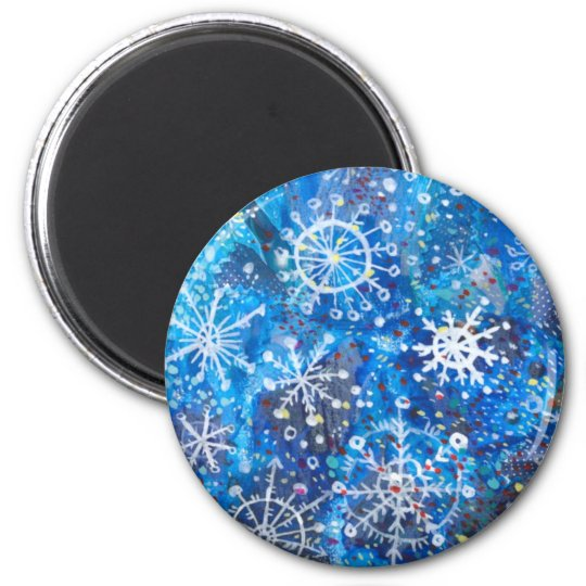 Falling Snowflakes Magnet