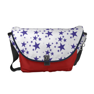Falling Star Pattern Patriotic 4th of July Holiday Courier Bags