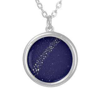 Falling Star Silver Plated Necklace